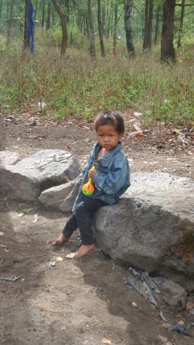 Egy helyi farmer kislánya