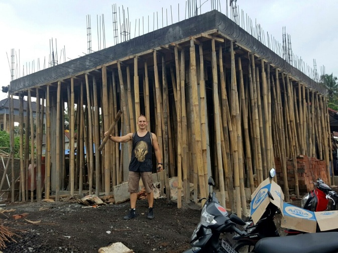 Éptkezés, az alátámasztás bambusz