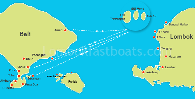 A szigetek térképen