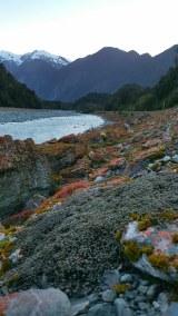 Gleccserfolyam és vörös moha